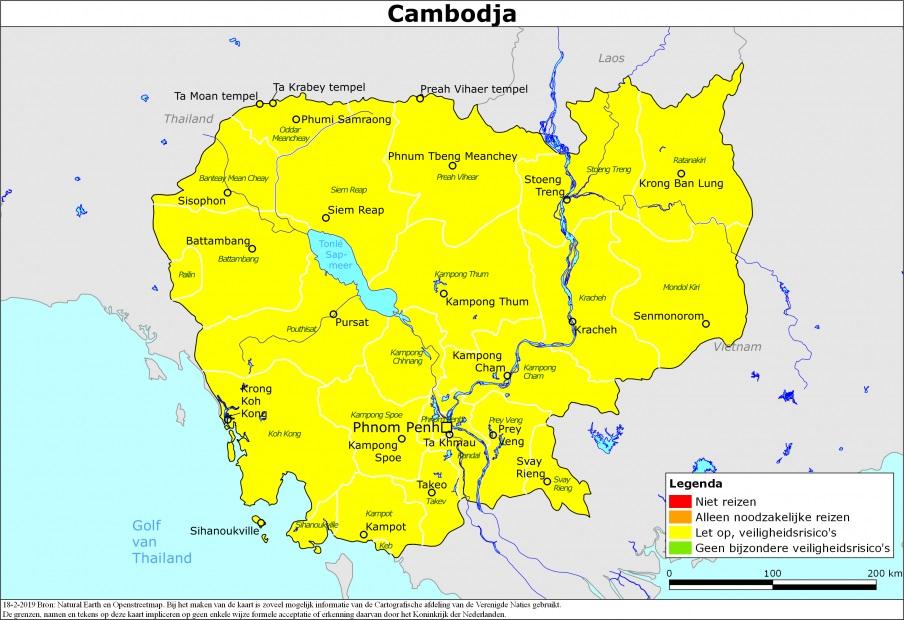 Actueel reisadvies Cambodja