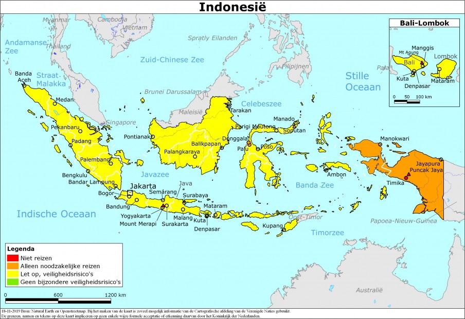 Actueel reisadvies Indonesië