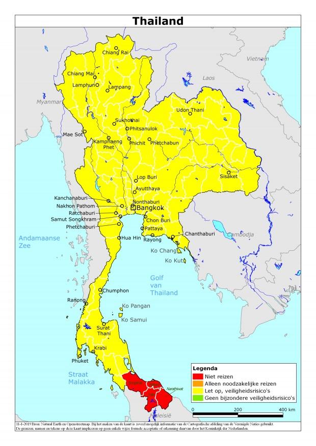 Actueel reisadvies Thailand